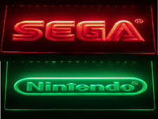 Sega And Nintendo Led Neon Light Sign Video Game Room ManCave Sport Gift Decor