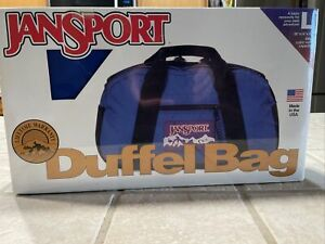 Jansport large duffel bag new sealed  30 x 14 x 13 blue retro made in USA