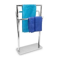 Relaxdays Porte serviettes sur pied en inox 3 tringles 86 x 50 20 cm À Poser...