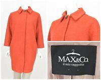 Womens MAX&Co by Max Mara Coat Orange Wool & Mohair Angora Oversized IT44 / UK12