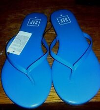 GAP Womens Leather Flip Flops NEW Blue Allure Size 8