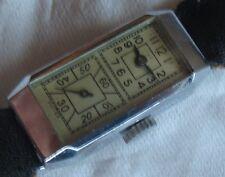 Duoplan vintage lady wristwatch nickel chromiun case load manual