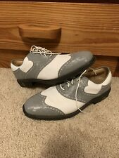 New listing Footjoy Icon Shield Tip Golf Shoes. White/Grey Hologram. Size US 12.5 M.