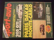 **j Sport Auto n°264  Poster La carte du 6eme Paris Dakar / Peugeot 205 GTI