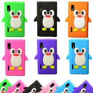 LG Optimus L5 II TPU Silikon Handyhülle Schutzhülle Cover Tasche Hülle Pinguin