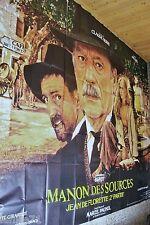 MANON DES SOURCES  ! marcel pagnol , beart affiche cinema geante 4x3m