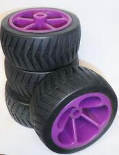 Set Of 3 Purple/Black Cart Wheels Parts 572