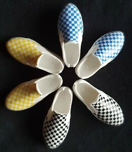 Mattel Creatable Check Deck Shoes Plimsoles fit 1:6  New Sindy doll feet 2.5x1cm