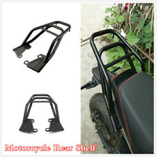 Motorcycle Seat Extension Armrest Rear Shelf Luggage Rack Holder Bracket Black