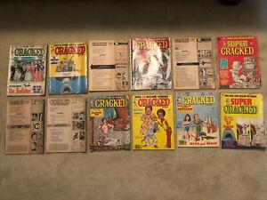 Cracked Magazine (Lot of 12) 1970's - Like Mad, Crazy, Sick!!! Super 104 131 125
