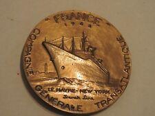 MEDAILLE MEDAL COMPAGNIE GENERALE TRANSATLANTIQUE FRANCE 1962