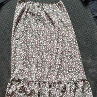 Target Floral Print Maxi Skirt Flare Hemline Size 14