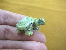(Y-TUR-LA-72) baby Turtle tortoise green FIGURINE carving gemstone love turtles