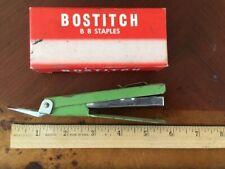 Vintage Bostitch Traveler Stapler Pocket Clip Staple Remover B8tj With Staples