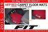Genuine Honda Fit Hatchback Factory OEM HFP RED Carpet Floor Mats 2015 - 2019