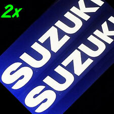 Suzuki GLOSS WHITE 13in 33cm decals stickers gsxr 650 sv 600 750 gp 1000 1100 gs