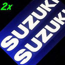 Suzuki GLOSS WHITE 13in 33cm decals stickers gsxr 650 600 750 1000 1100 gs sv gp