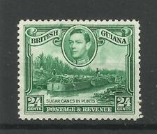 Br Guiana 1938 Sg 312, 24c Blue Green perf 12.5, Watermark upright, LM/M. [1538]