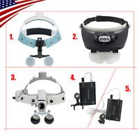 US LED Headband Dental Surgical Medical Binocular Loupes Glass Magnifier (3.5-R)