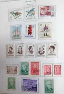 A) 1967, ARGENTINA, LOT OF 19 STAMPS, BIRDS, PRO CHILDHOOD, THE PICNIC PAINTER F