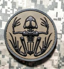 SKELETON FROG NAVY SEAL 3D PVC BADGE MILITARY FOREST VELCRO®BRAND FASTENER PATCH