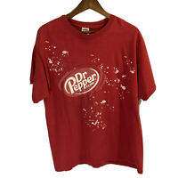 Vrg 2008 Dr. Pepper All Over Print Suds Bubbles Black T Shirt Mens Sz Large L