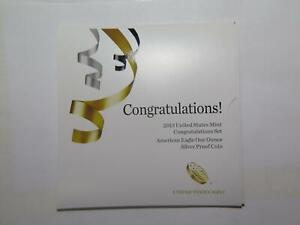 2013 W CONGRATULATIONS SET AMERICAN EAGLE SILVER PROOF COIN U.S. MINT ISSUE #Z🌈