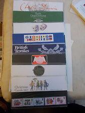 1982 Commemorative Presentation Packs Complete (8 Packs P.O. Nos 132-140)