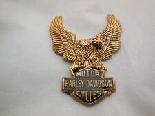 Harley Davidson B&S Eagle Gold Medallion Emblem Sissy Bar Koffer 91811-85