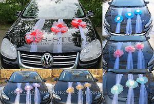 3 Girlanden für Dekoration von Brautauto Hochzeit Autodeko Autoschmuck, AM006-XX
