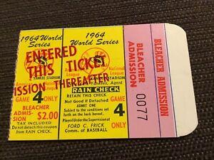 1964 WORLD SERIES ticket gm 4 Yankees Cardinals MICKEY MANTLE