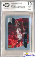 1998 Upper Deck #122 Michael Jordan Sticker BECKETT 10 MINT Bulls HOF