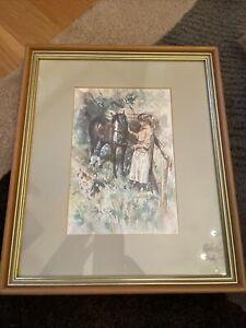 Gordon King Framed Print Girl With Pony And Spaniel