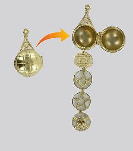 Masonic ladder Orb Rare- Solid Silver Gold plated