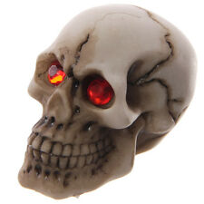 Red Jewelled Eyed Small Skull Head Figurine Ornament