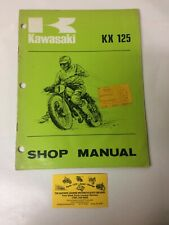 Used 1974 Kawasaki Kx125 Motorcycle Shop Manual Oem 99997-708 (Fits: Kawasaki)