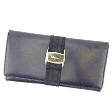Auth Sale Salvatore Ferragamo Fastener Wallet Vara Hardware unisexused J18302