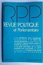 Revue Politique et Parlementaire 11/1973; Role politique de la cour suprème US