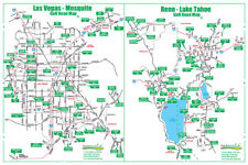 Golf Road Map - Las Vegas & Reno Nevada Map - Golf Travel Map - Golf Assessory