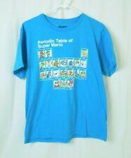 Boy's Nintendo Periodic Table of Super Mario Turquoise Tee T-Shirt Size XL