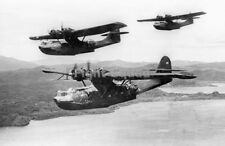 WW2 Picture Photo 1943 US Navy PBY-5A Catalina in flight over Pacific 2228