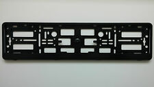 Black Euroclip  Number Plate Surrounds Holder Frame For The Caravan