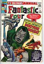 FANTASTIC FOUR ANNUAL #2 (1961) - Grade 4.5 - Origin of Doctor Doom! Kirby! Lee!