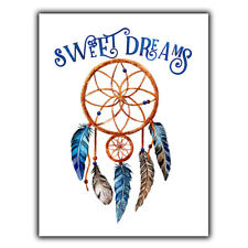 Dream Catcher Sweet Dreams Metal Wall Plaque Sign inspirational bed room gift