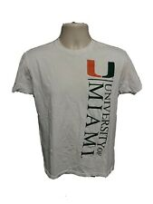 University of Miami Adult White XS TShirt