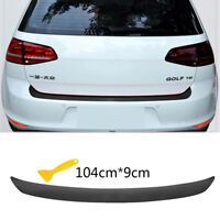 Carbon Fiber Style 4D Auto Car Rear Bumper Trunk Tail Lip Stickers Decal Sticker