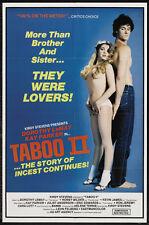 TABOO II Movie POSTER 11x17 Dorothy LeMay Kay Parker Honey Wilder Juliet