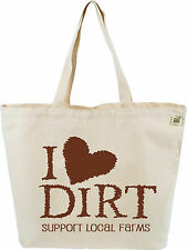 ECOBAGS Products Printed Canvas Tote Bag  'I Love Dirt'