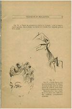 Publicité ancienne femme technique coiffure mode année 40   No 31