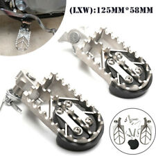 1Pair Motorcycle Bike Off-road Stainless Steel Foot Pegs Forefoot Pedals 8MM L&R